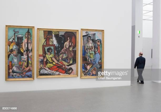 In the Museum Pinakothek der Moderne in Munich Max Beckmann Temptation 1936/37