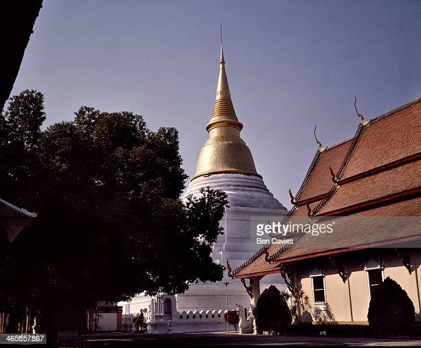 In the Northern Thai city of Lampang the revered temple of Wat Phra Kaeo Don Tao features a magnificent stupa and viharn with ceilings of sculptured...