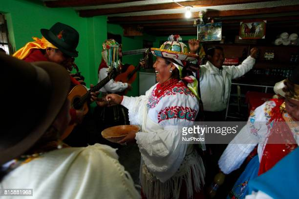 In the parish Juan Montalvo of Cayambe Ecuador every year its inhabitants celebrate for eight weeks the festivities of San Pedro Comparsas and dances...