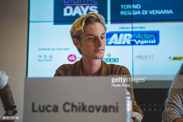 VENARIA VENARIA TORINO ITALY In the photo Luca Chikovani Youtubers talking at the panel called 'The Web communication instrument for the creative...