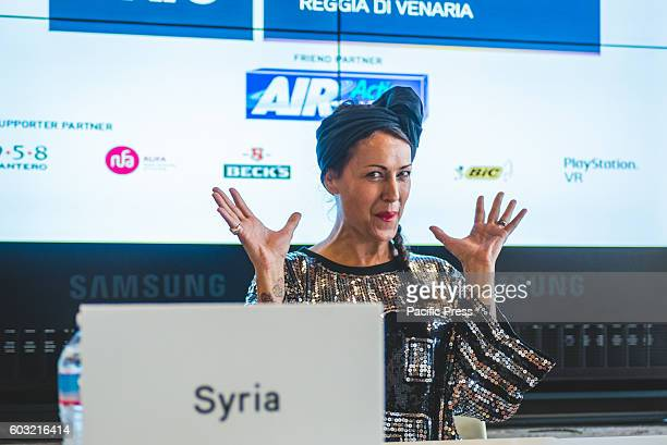 VENARIA VENARIA TORINO ITALY In the photo Syria The panel called 'Being a singer or becoming a singer in the digital era' with Syria Fabio Rovazzi...