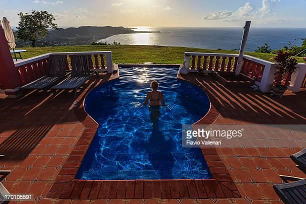 Im pool, Grenada W.I.