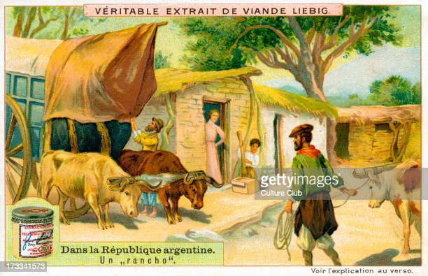 a 'rancho' Liebig Meat Extract collectible card