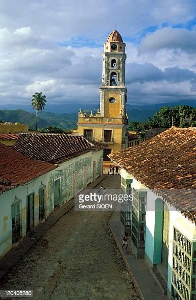 In the road in Trinidad Cuba Province Sancti Spiritus Trinidad road Echerri church San Francisco de Asiscolonial architecture