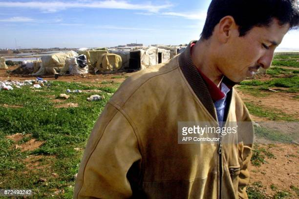 In the shanty town of La loma de la Mezquita near El Ejido live a group of Moroccans mainly illegal immigrants 23 January 2001 who fear being...