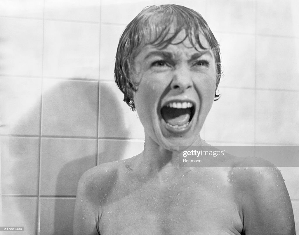 Psycho shower curtain scene - In The Shower Scene From The Film Psycho Marion Crane Played By Janet Leigh