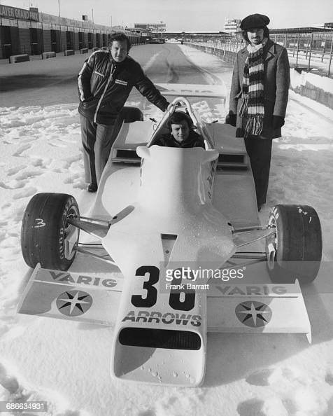 In the snow covered pitlane of Silverstone Riccardo Patrese of Italy sits aboard the controversial Arrows Racing Team Arrows FA1 Ford Cosworth V8...