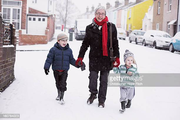 In the snow with Grandma