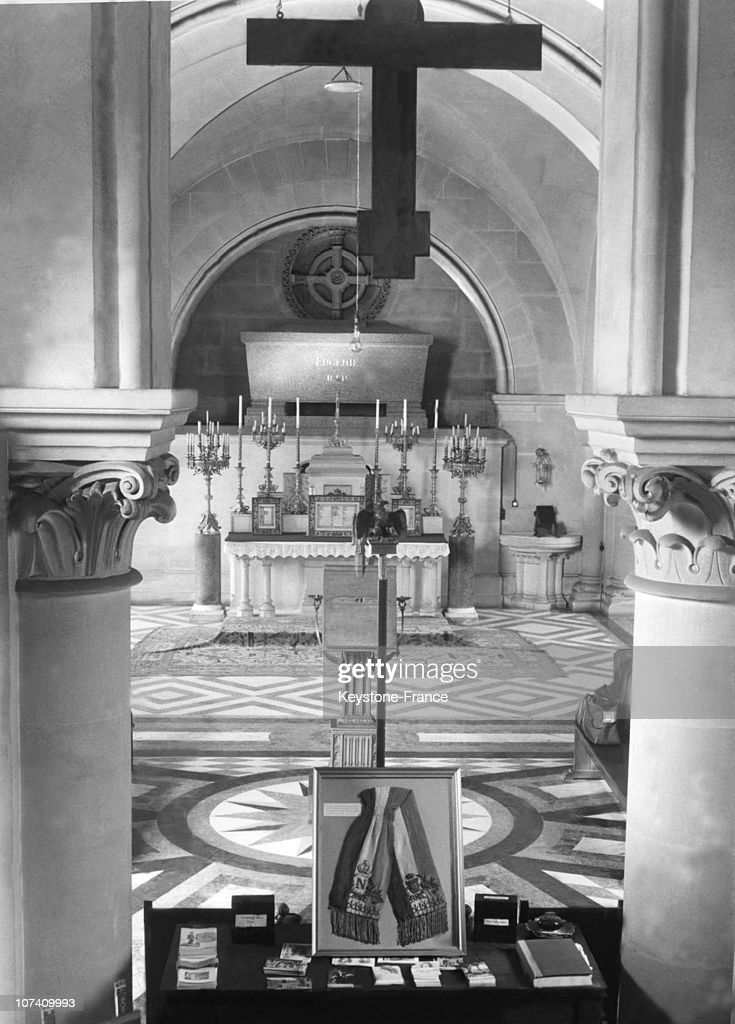 In The St Michael Abbey Crypt, The French Empress Eugenie Tomb. Photography Taken In The 1950'S.