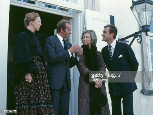 In their official visit to Denmark the Spanish Kings Juan Carlos and Sofia together with the Danish Queen Margaret II and her husband the Prince...