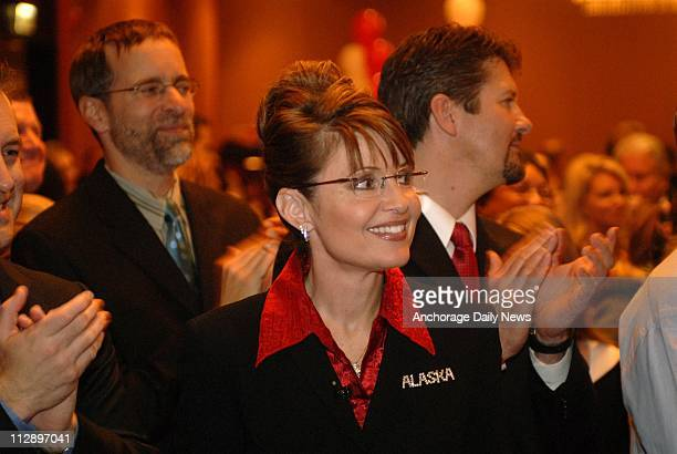 In this 2006 file photo Alaskan Republican gubernatorial candidate for governor Sarah Palin is pictured at her election night headquarters On Friday...