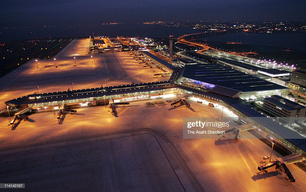 In this aerial image Chubu Centrair International Airport is seen on February 15 2005 in Tokoname Aichi Japan The airport will be opened on February...