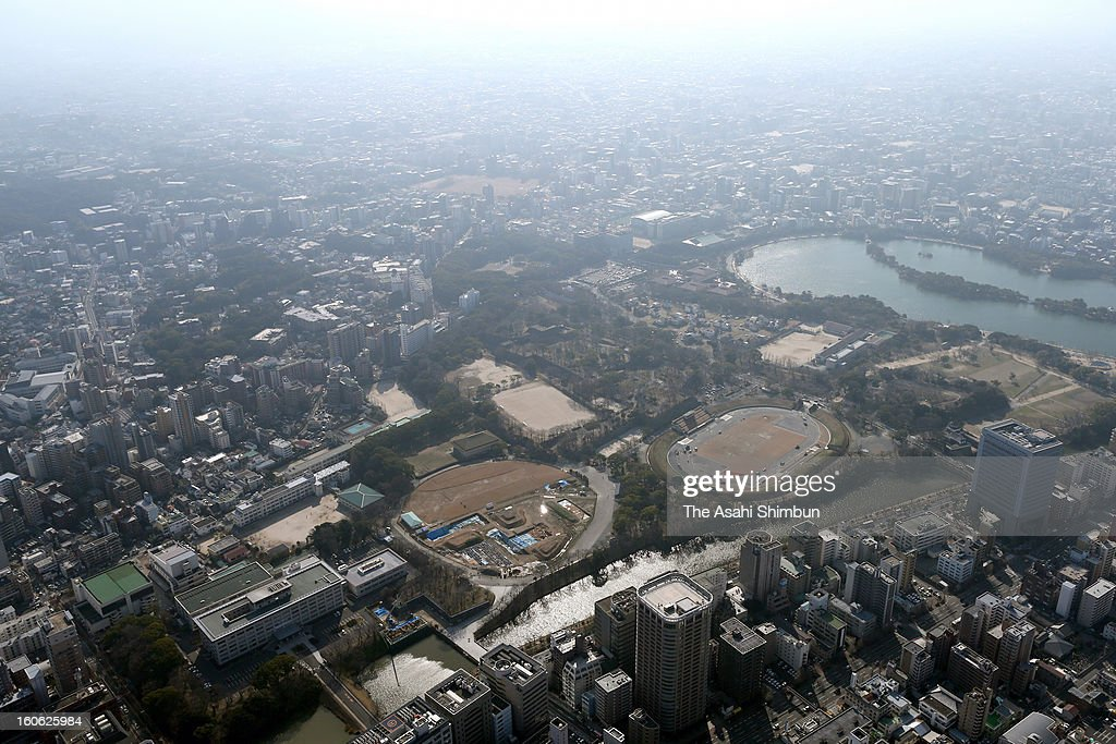 In this aerial image, foggy Fukuoka city is seen on February 2, 2013 in Fukuoka, Japan. Traces of China's air pollution have reached southwestern Japan, alarming residents and leading government officials to consider international cooperation to deal with the problem.