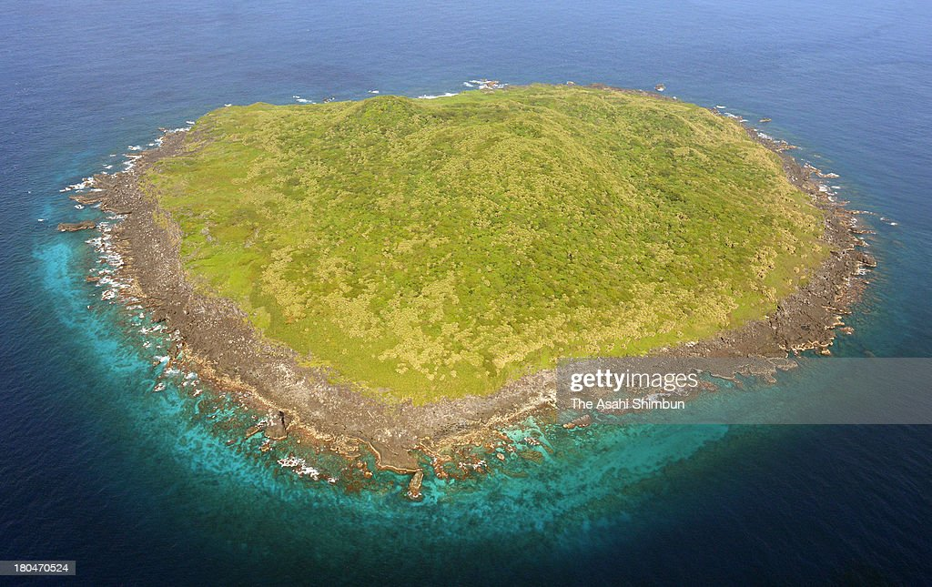 In this aerial image general view of Kuba Island one of the disputed Senkaku Islands on September 7 2013 in Ishigaki Okinawa Japan