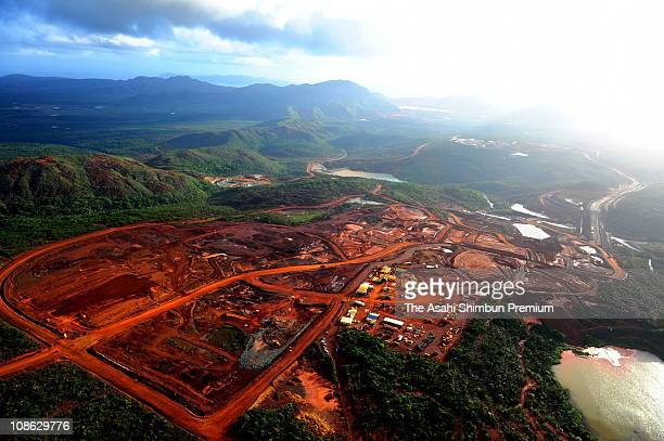 In this aerial image Goro Nickel Mine is seen on April 22 2010 in Goro New Caledonia Ten percent of nickel are thought to be buried in the mine...