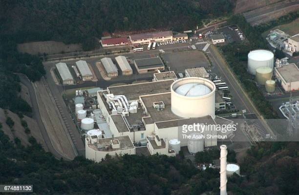In this aerial image Japan Atomic Energy Agency's Fugen Nuclear Power Plant is seen on April 15 1997 in Tsuruga Fukui Japan