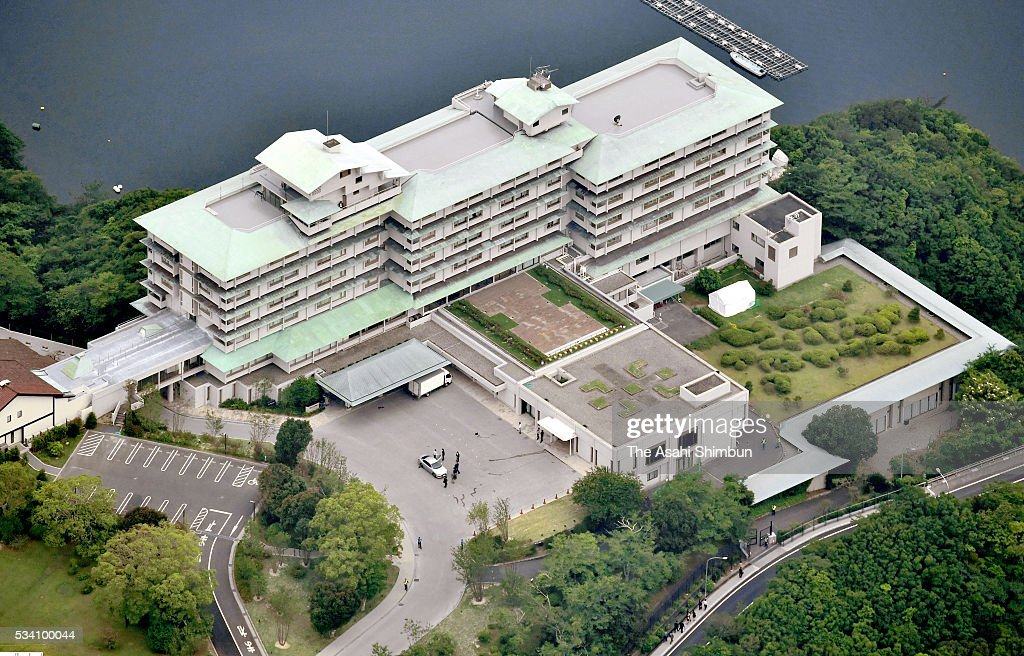 In this aerial image, Shima Kanko Hotel in Kashikojima Island, the main venue of the Group of Seven summit is seen on May 25, 2016 in Shima, Mie, Japan. The Group of Seven summit takes place on May 26 and 27 to discuss key global issues such as global economy and anti terrorism measures.