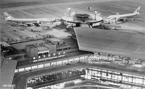 In this aerial image the general view of the newly opened New Tokyo International Airport a day after its grand opening on May 21 1978 in Narita...
