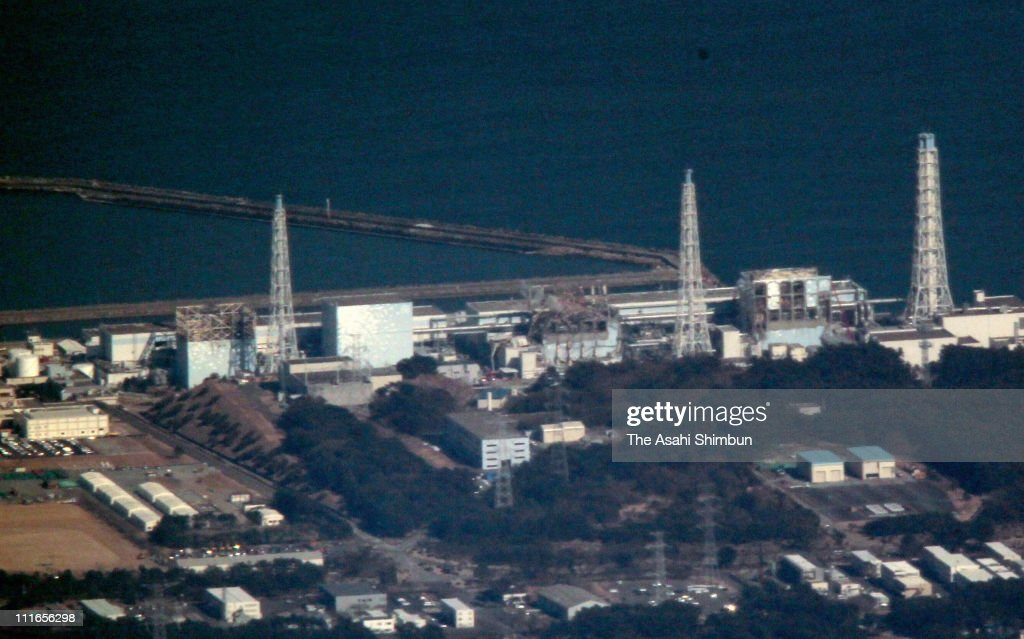 In this aerial image, the troubled Fukushima Daiichi Nuclear Power Plant is seen on April 5, 2011 in Okuma, Fukushima, Japan. More than three weeks after the magnitude 9 earthquake and tsunami struck Japan, the death toll has risen to over 11,000 dead with thousands missing. Seawater samples collected near the nuclear power plant have indicated high levels of radiation as the country struggles to repair the damaged reactors.