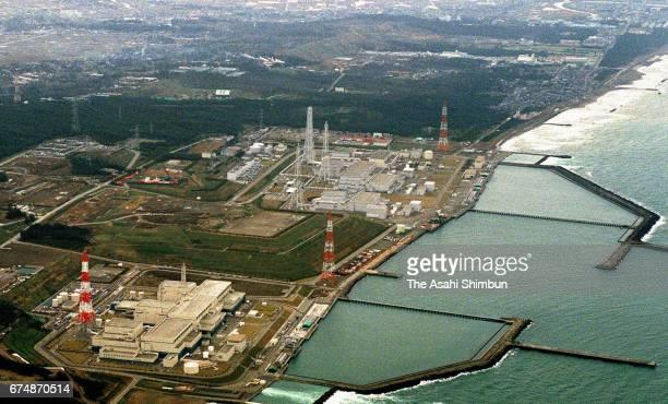 In this aerial image Tokyo Electric Power Co's Kashiwazaki Kariwa Nuclear Power Plant is seen on April 11 1997 in Kashiwazaki Niigata Japan