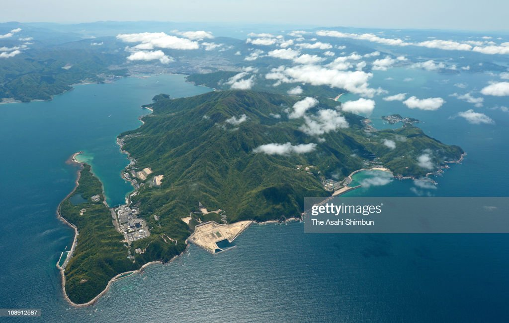 In this aerial image, Tsuruga Peninsula, where the Japan Atomic Power Company's Tsuruga Nuclear Power Plant (L), Japan Atomic Energy Agency's Monju prototype fast-breeder reactor, and Kansai Electric Power Co's Mihama Nuclear Power Plant are located, is seen on May 8, 2013 in Tsuruga, Fukui, Japan.