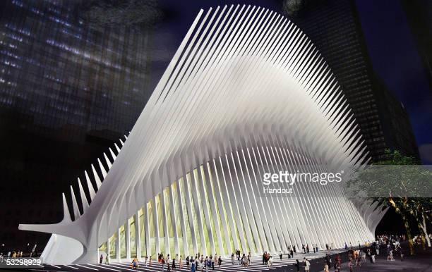 In this artist's rendering provided by the Santiago Calatrava SA architect Santiago Calatrava's design for the World Trade Center Transportation Hub...