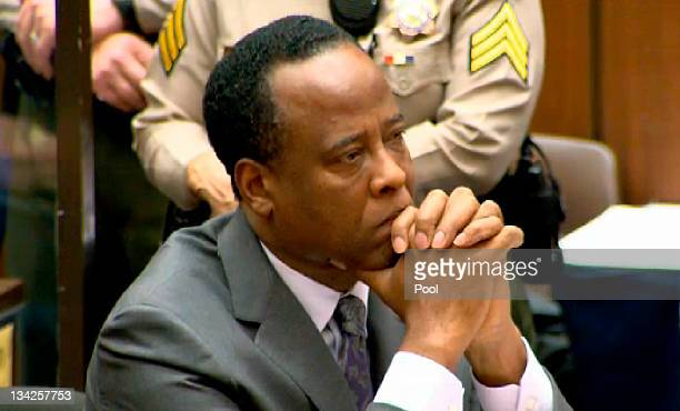 In this CNN screen grab Dr Conrad Murray listens as he sits in court during his sentencing for the involuntary manslaughter of singer Michael Jackson...
