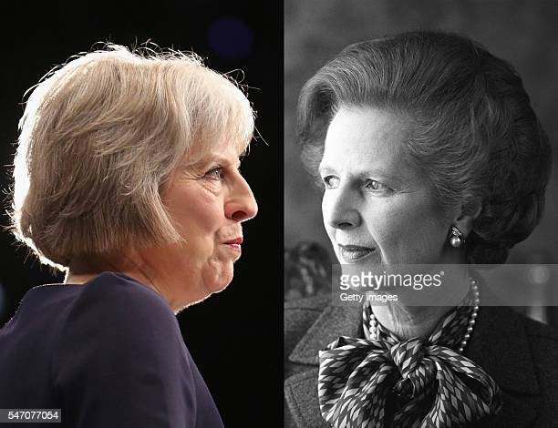 COMPOSITE OF TWO IMAGES Image numbers 491520520 and 103427990 In this composite image a comparision has been made between Theresa May the new Prime...