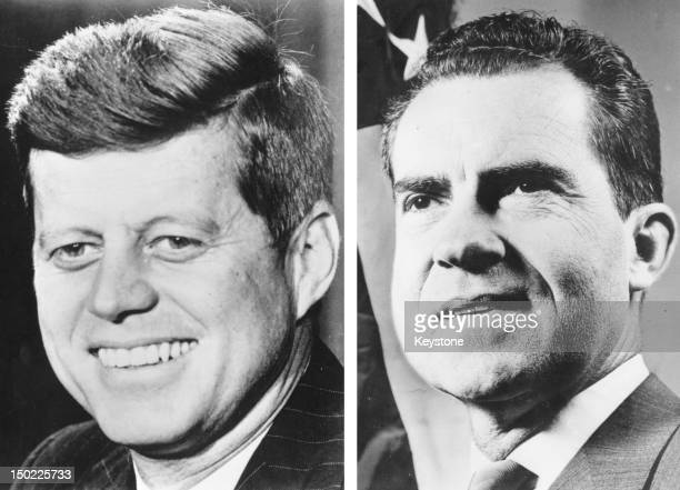In this composite image a comparison has been made between former US Presidential Candidates John F Kennedy and Richard Nixon In 1960 John F Kennedy...