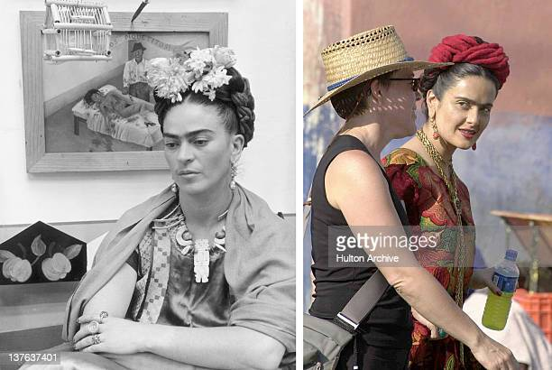 In this composite image a comparison has been made between Frida Kahlo and actress Salma Hayek Oscar hype continues this week with the announcement...