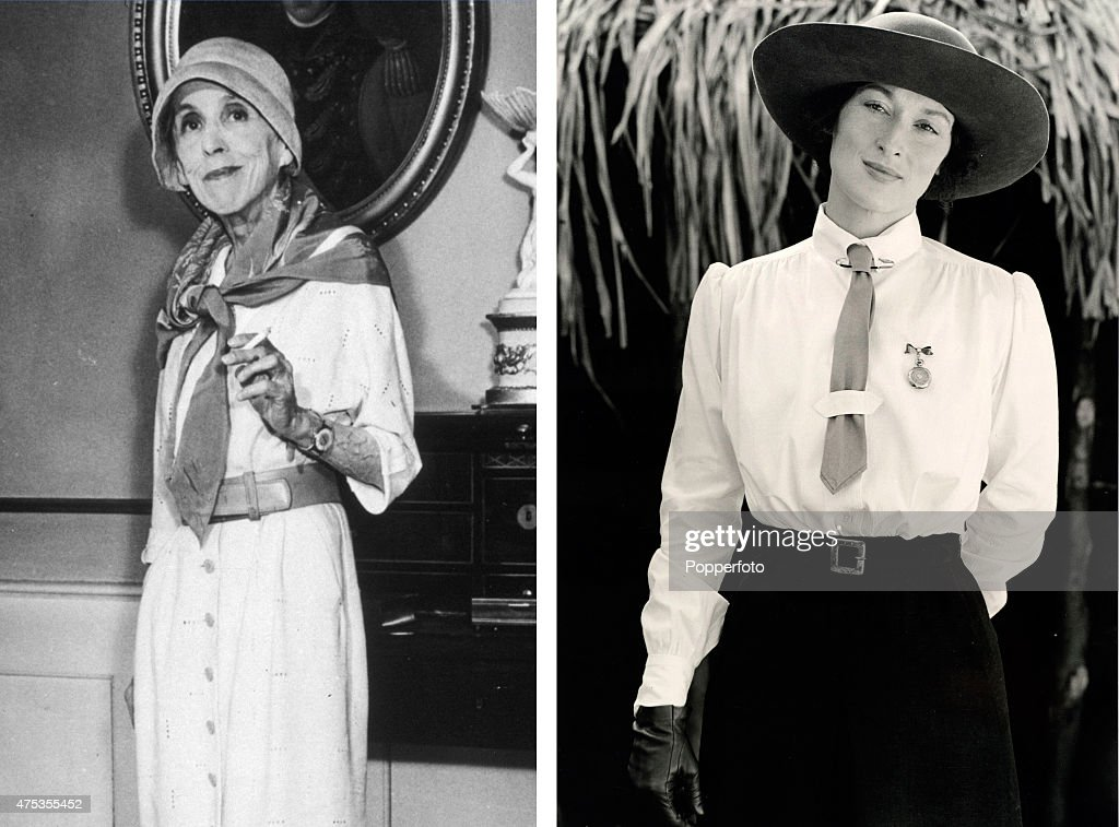 In this composite image a comparison has been made between Karen Blixen (L) and actress <a gi-track='captionPersonalityLinkClicked' href=/galleries/search?phrase=Meryl+Streep&family=editorial&specificpeople=171097 ng-click='$event.stopPropagation()'>Meryl Streep</a>. Actress <a gi-track='captionPersonalityLinkClicked' href=/galleries/search?phrase=Meryl+Streep&family=editorial&specificpeople=171097 ng-click='$event.stopPropagation()'>Meryl Streep</a> played Karen Blixen in the partial biopic film 'Out Of Africa' directed by Sydney Pollack.