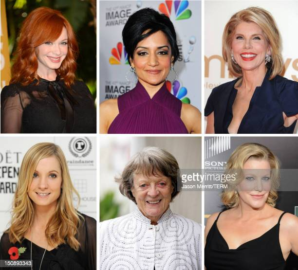 In this composite image a comparison has been made between the 2012 Emmy nominees for Outstanding Supporting Actress In A Drama Series Actress Anna...