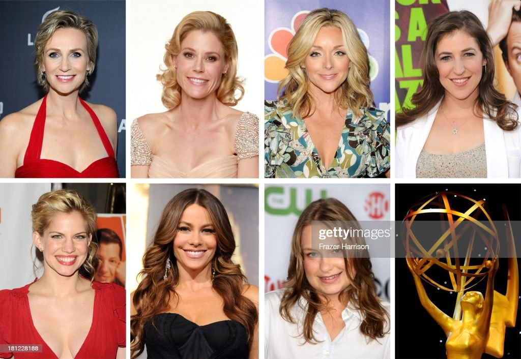 In this composite image a comparison has been made between the 2012 Emmy Nominees For Lead Actress In A Comedy Series. A general view of atmosphere is seen during the 38th Annual Daytime Entertainment Emmy Awards held at the Las Vegas Hilton on June 19, 2011 in Las Vegas, Nevada.