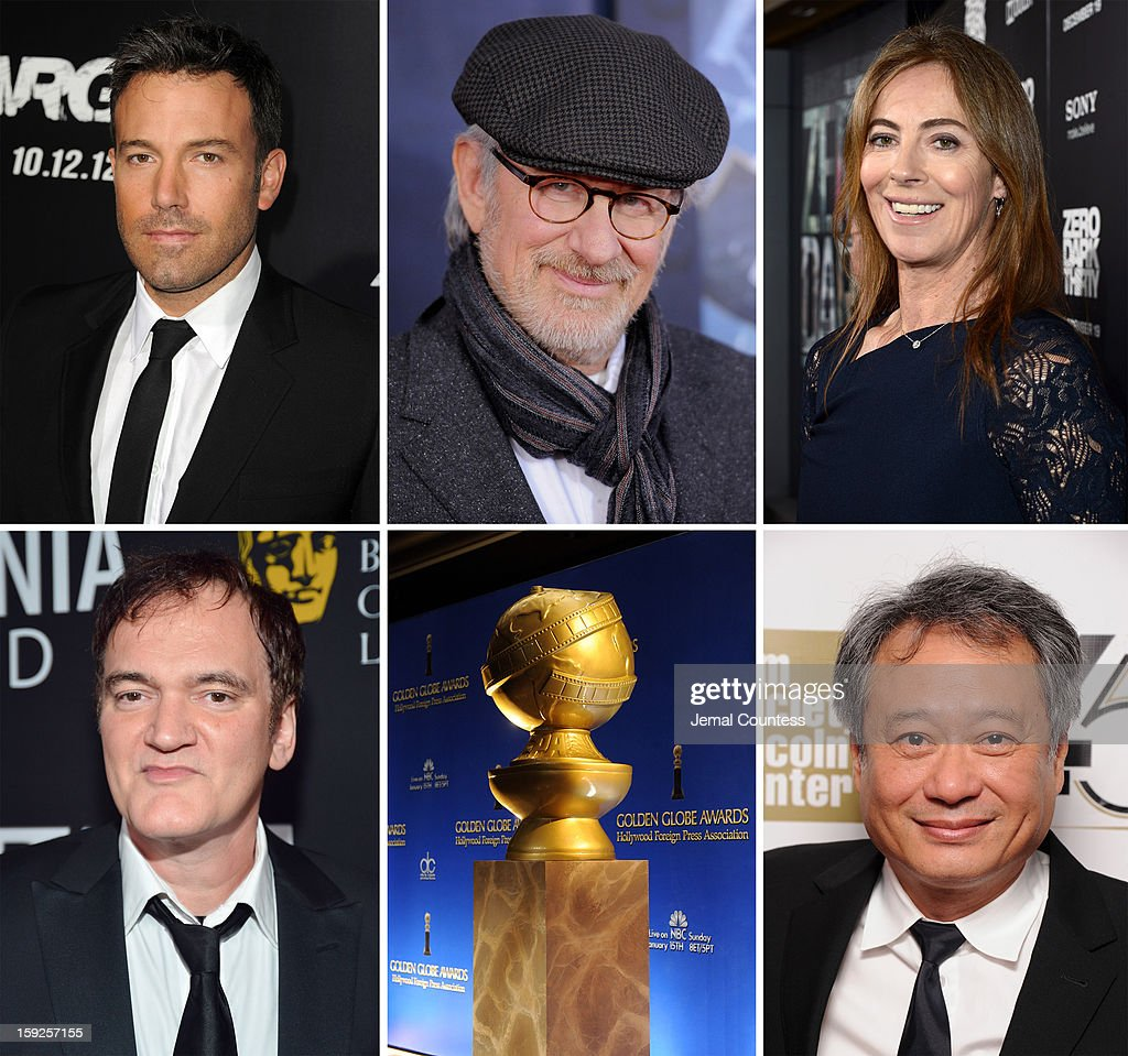 In this composite image a comparison has been made between the 2013 Golden Globe Award nominees for Best Director - Motion Picture. Director <a gi-track='captionPersonalityLinkClicked' href=/galleries/search?phrase=Ang+Lee&family=editorial&specificpeople=215104 ng-click='$event.stopPropagation()'>Ang Lee</a> attends the Opening Night Gala Presentation Of 'Life Of Pi' at the 50th New York Film Festival at Alice Tully Hall on September 28, 2012 in New York City.