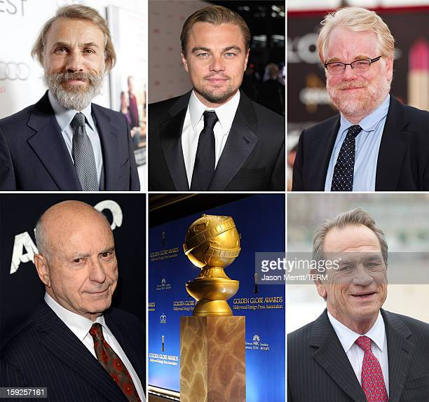 In this composite image a comparison has been made between the 2013 Golden Globe Award nominees for Best Performance by an Actor in a Supporting Role...
