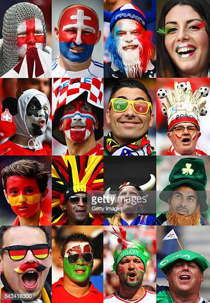In this composite image a comparison has been made between the fans from each country in the last 16 of EURO 2016 The round of 16 matchesthe start of...