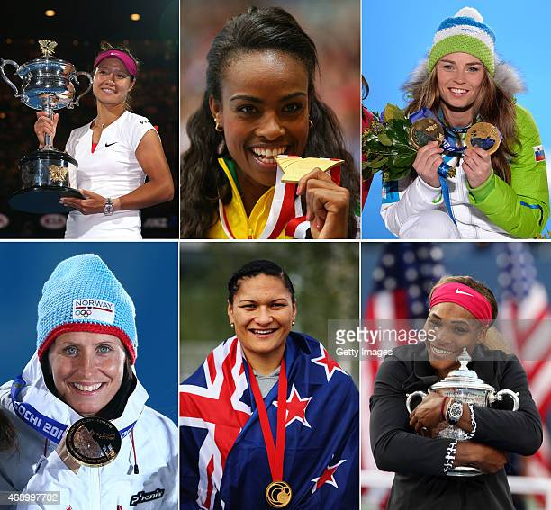 In this composite image a comparison has been made between the Laureus World Sports Woman Of The Year 2015 Nominees Tennis Player Na Li of China...