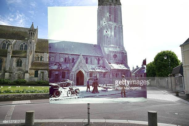 In this composite image a comparison has been made of BernieressurMere France DDay took place on June 6 1944 Image Operation Overlord Normandy A...
