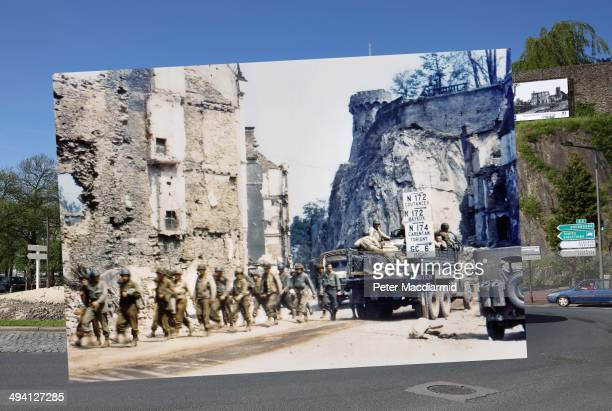 In this composite image a comparison has been made of Saint Lo France DDay took place on June 6 1944 Images Operation Overlord Normandy United States...