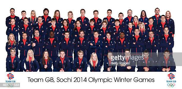 In this composite image members of Team GB for Sochi 2014 Winter Olympic Games are seen A portrait of David Murdoch Greg Drummond Chemmy Alcott Dom...