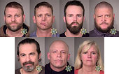 In this composite with handout images provided by the Multnomah County Sheriff's Office suspects Ammon Bundy Ryan Bundy Ryan Waylen Payne Brian...