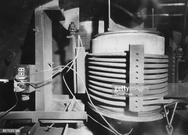 In this device called a vacuum induction furnace plutonium is melted in preparation for casting into ingots to be machined into bomb triggers Credit...