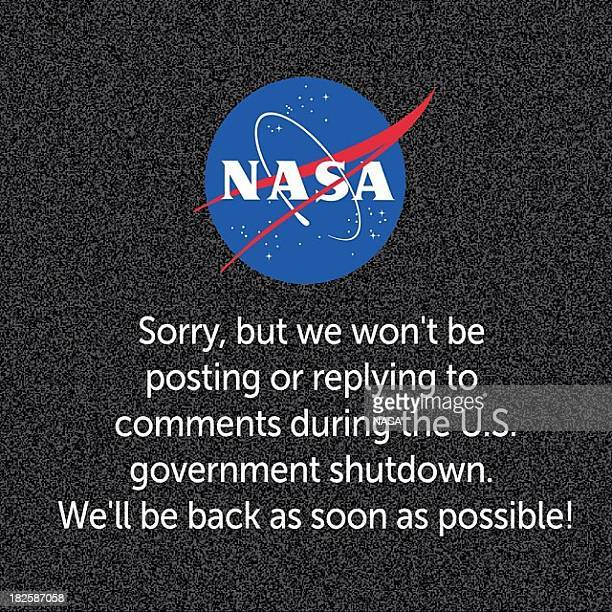 In this digital composite image provided by NASA informs readers that because of the federal goverment shutdown they will not be posting to their...
