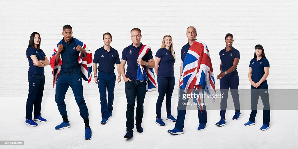 In this digital composite image released on August 4, Olympians (L-R) <a gi-track='captionPersonalityLinkClicked' href=/galleries/search?phrase=Sarah+Stevenson&family=editorial&specificpeople=2999578 ng-click='$event.stopPropagation()'>Sarah Stevenson</a>, <a gi-track='captionPersonalityLinkClicked' href=/galleries/search?phrase=Anthony+Joshua&family=editorial&specificpeople=8598922 ng-click='$event.stopPropagation()'>Anthony Joshua</a>, Sir <a gi-track='captionPersonalityLinkClicked' href=/galleries/search?phrase=Ben+Ainslie&family=editorial&specificpeople=208865 ng-click='$event.stopPropagation()'>Ben Ainslie</a>, Sir <a gi-track='captionPersonalityLinkClicked' href=/galleries/search?phrase=Chris+Hoy&family=editorial&specificpeople=171259 ng-click='$event.stopPropagation()'>Chris Hoy</a>, <a gi-track='captionPersonalityLinkClicked' href=/galleries/search?phrase=Rebecca+Adlington&family=editorial&specificpeople=872897 ng-click='$event.stopPropagation()'>Rebecca Adlington</a>, Sir <a gi-track='captionPersonalityLinkClicked' href=/galleries/search?phrase=Steve+Redgrave&family=editorial&specificpeople=171908 ng-click='$event.stopPropagation()'>Steve Redgrave</a>, <a gi-track='captionPersonalityLinkClicked' href=/galleries/search?phrase=Denise+Lewis+-+Track+and+Field+Athlete&family=editorial&specificpeople=211595 ng-click='$event.stopPropagation()'>Denise Lewis</a> and Beth Twedlle are pictured to mark the launch of the Team GB Athlete Ambassador Programme for the 2016 Olympic Games
