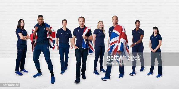 In this digital composite image released on August 4 Olympians Sarah Stevenson Anthony Joshua Sir Ben Ainslie Sir Chris Hoy Rebecca Adlington Sir...