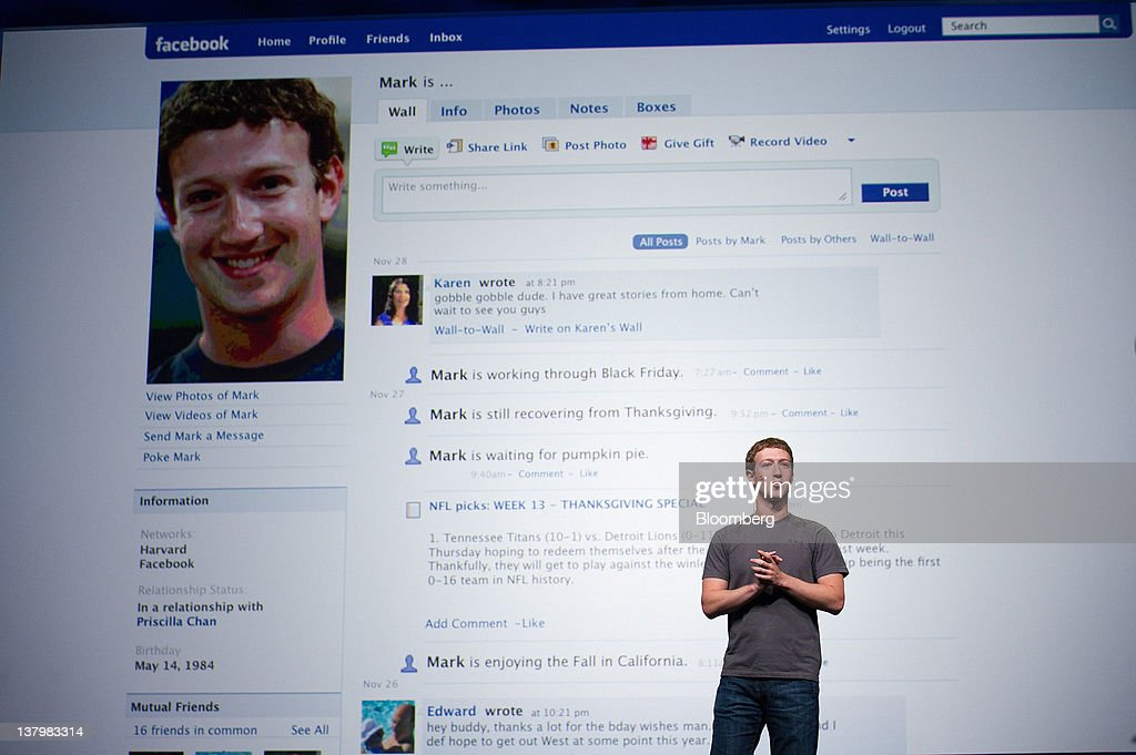 In this file photo <a gi-track='captionPersonalityLinkClicked' href=/galleries/search?phrase=Mark+Zuckerberg&family=editorial&specificpeople=4841191 ng-click='$event.stopPropagation()'>Mark Zuckerberg</a>, chief executive officer and founder of Facebook Inc., speaks at Facebook's F8 developers conference in San Francisco, California, U.S., on Thursday, Sept. 22, 2011. A Facebook IPO would provide funds to help the social-networking service maintain its expansion and fend off competition from Internet rivals such as Google Inc. and Twitter Inc. Photographer: David Paul Morris/Bloomberg via Getty Images