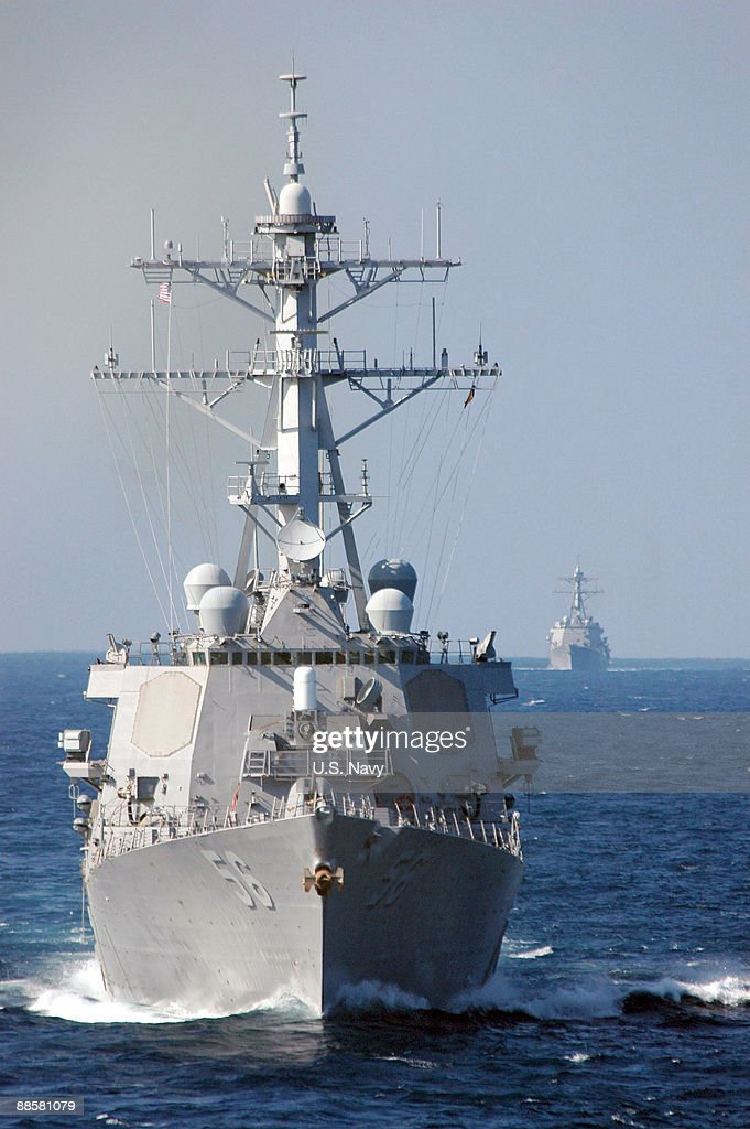 In this file photo provided by the US Navy the guidedmissile destroyer USS John S McCain is underway October 18 2006 in the Pacific Ocean According...