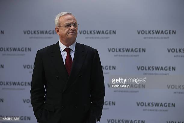 In this file photo Volkswagen CEO Martin Winterkorn attends the company's annual press conference on March 13 2014 in Wolfsburg Germany Winterkorn...