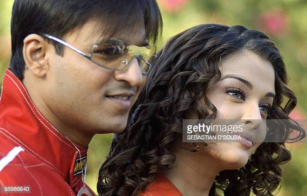 WITH 'AFPENTERTAINMENTINDIABOLLYWOODNOVICE' In this file picture taken 09 February 2004 former Miss World and Indian actress Aishwarya Rai and...