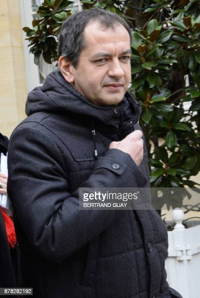 In this file picture taken on January 27 2014 French trade union 'Force Ouvriere' board member Pascal Pavageau leaves the Hotel Matignon in Paris...